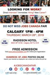 Calgary Job Fair - March 28th 2019