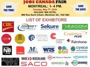MONTREAL JOB FAIR - MAY 7TH,  2019