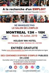 MONTREAL JOB FAIR - JULY 16TH,  2019